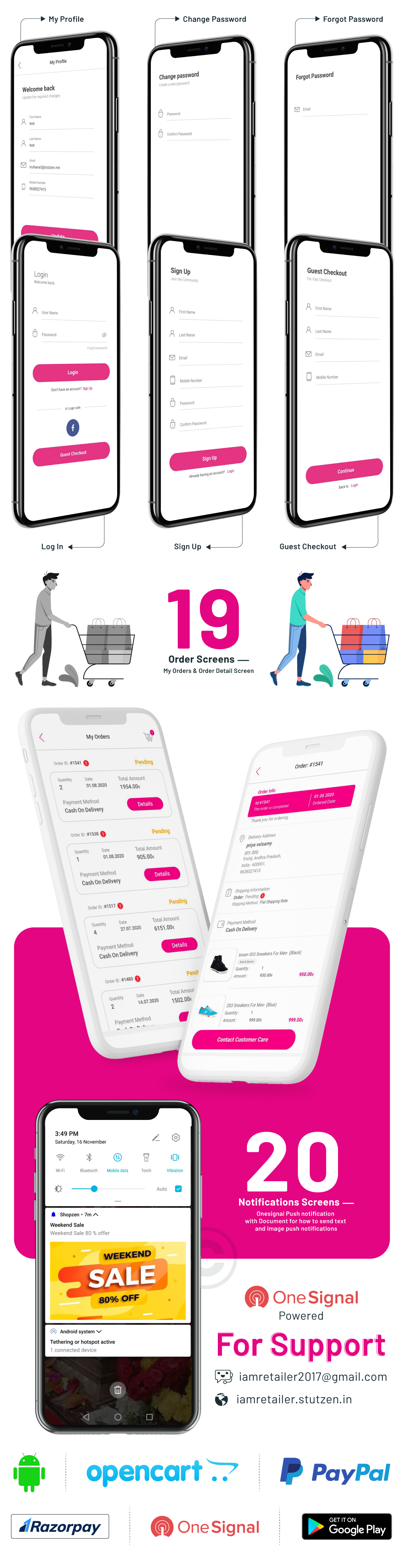 i.am.retailer - Native Android Shopping App powered by Opencart - 11