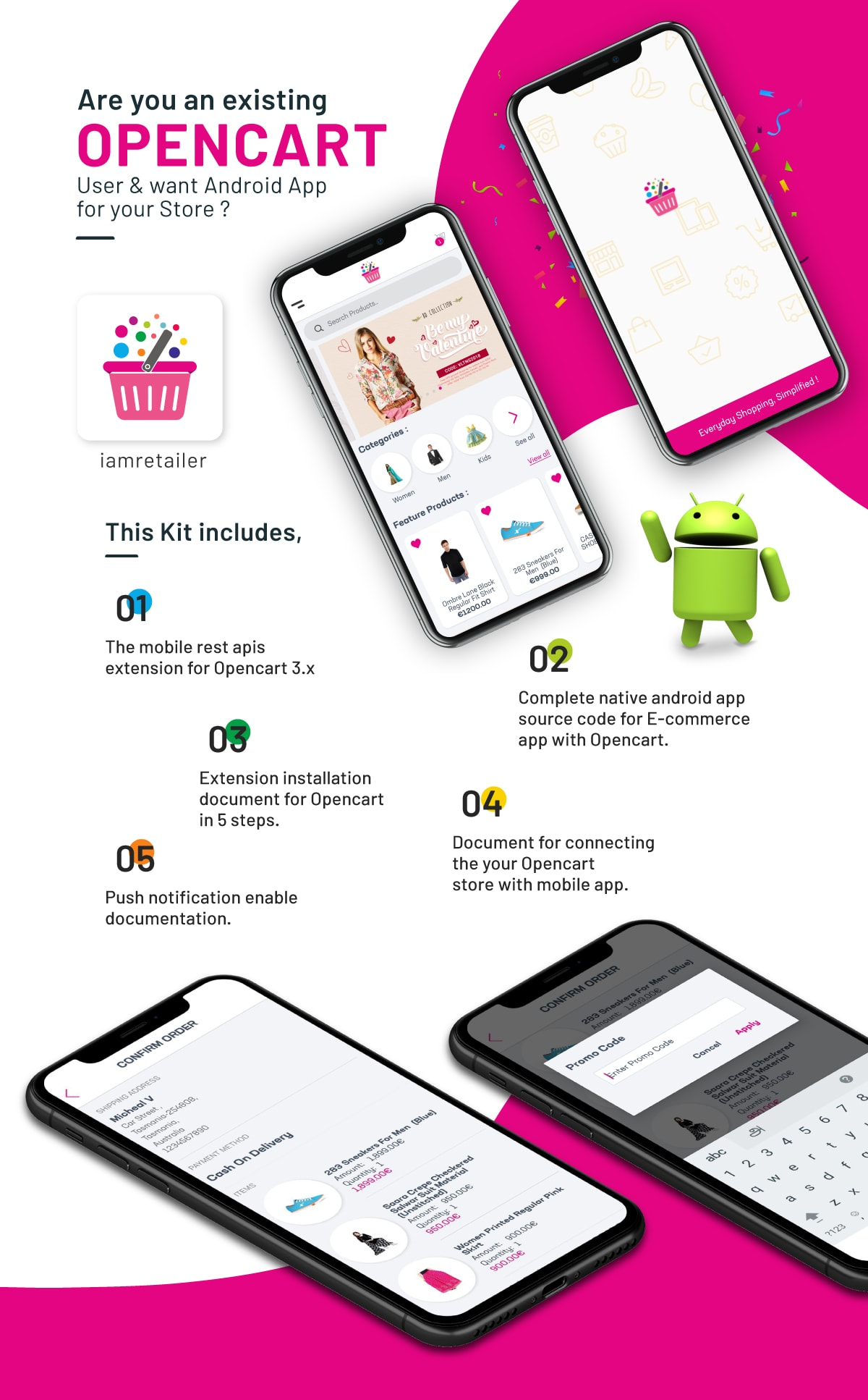 Complete Native Android Shopping App Source Code with Opencart - 2